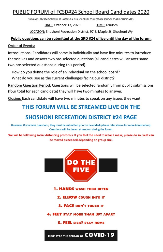 School Board Forum Flyer
