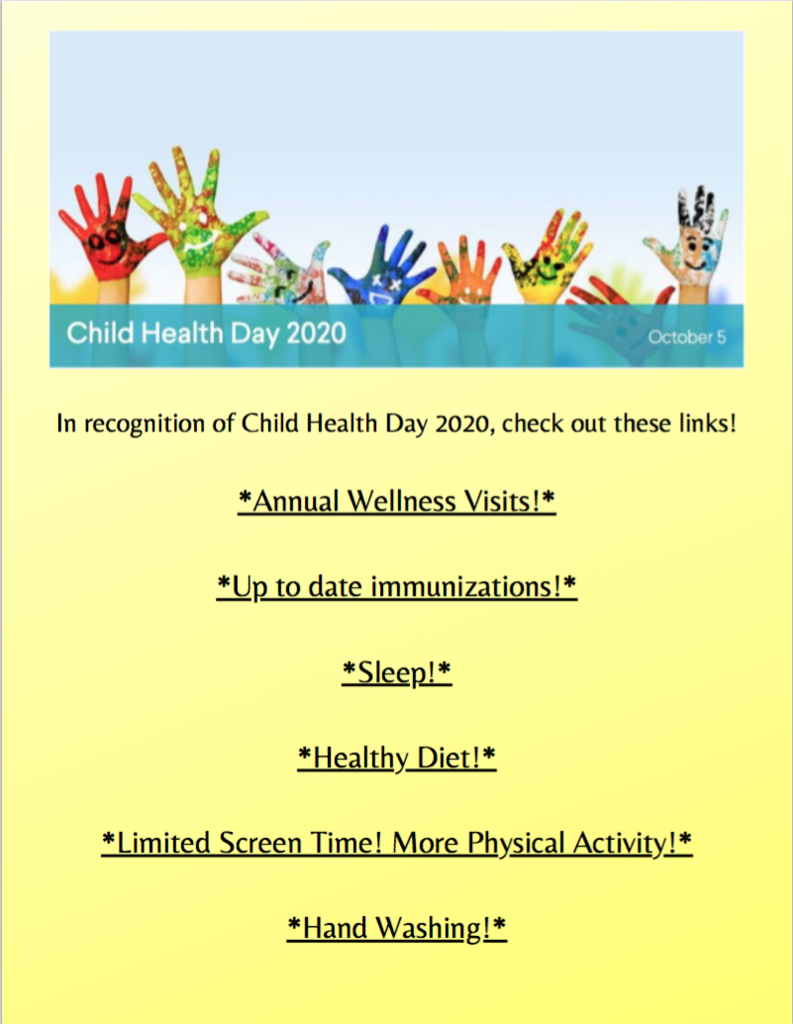 Child Health Day Flyer. See more at https://5il.co/lthc