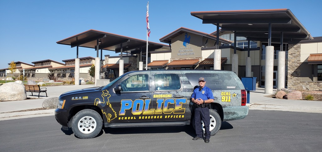 SRO Cody Myers with newly wrapped vehicle
