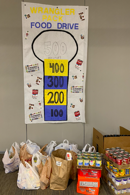 400 Pounds of Food for Wrangler Pack Donated!