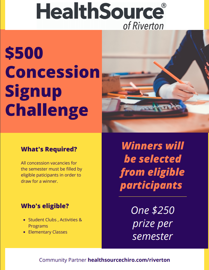$500 incentive to sign up for concessions by HealthSource