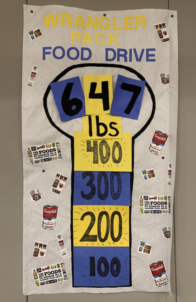 Wrangler Pack food drive brought in 647 lbs food!