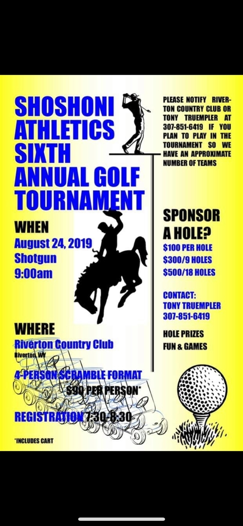 shoshoni athletics golf tournament