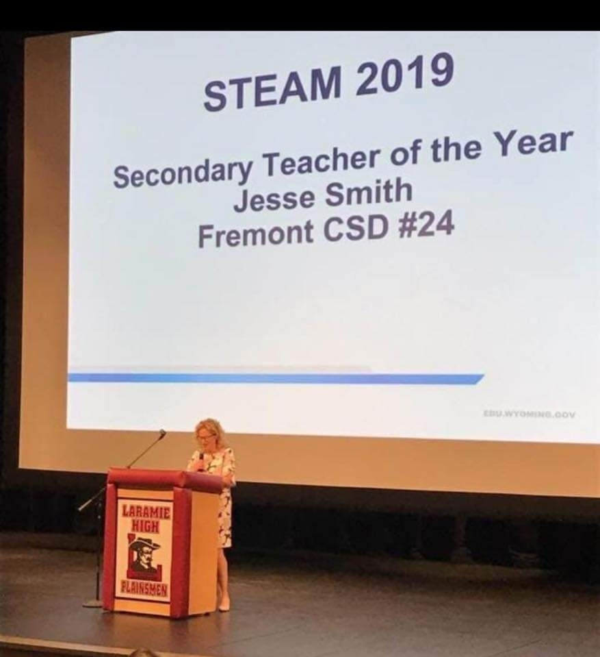 j.smith STEAM 2019 Teacher of the year