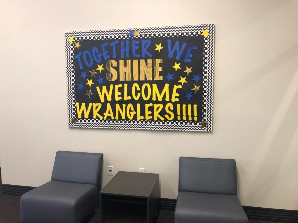 together we shine welcome wranglers bulletin board