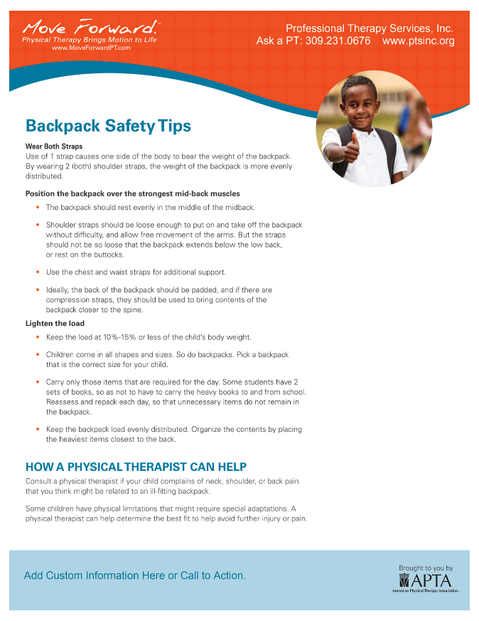 Back Pack Safety Tips