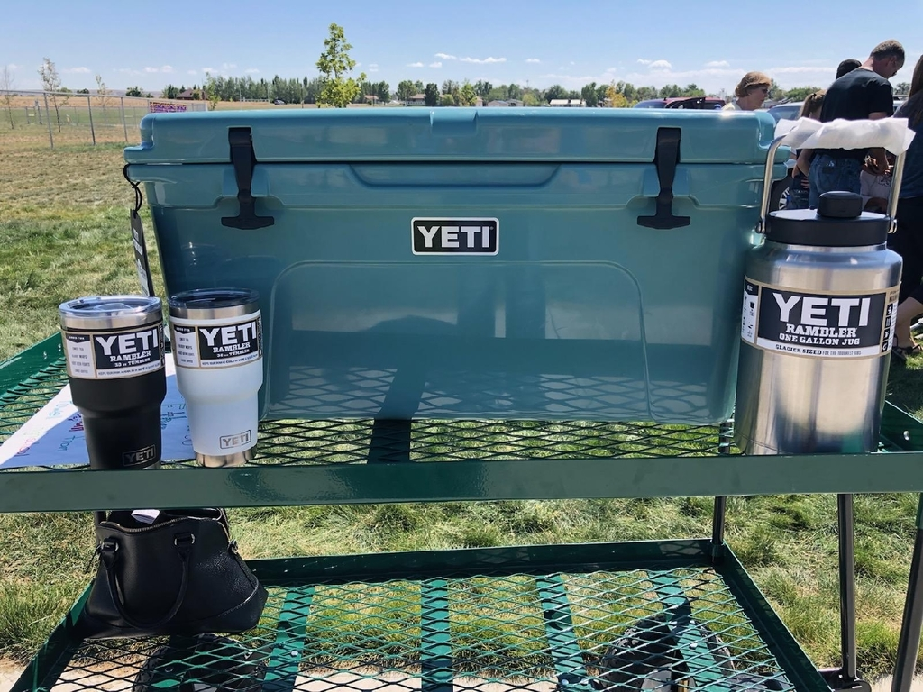 yeti coolers, mugs and jug