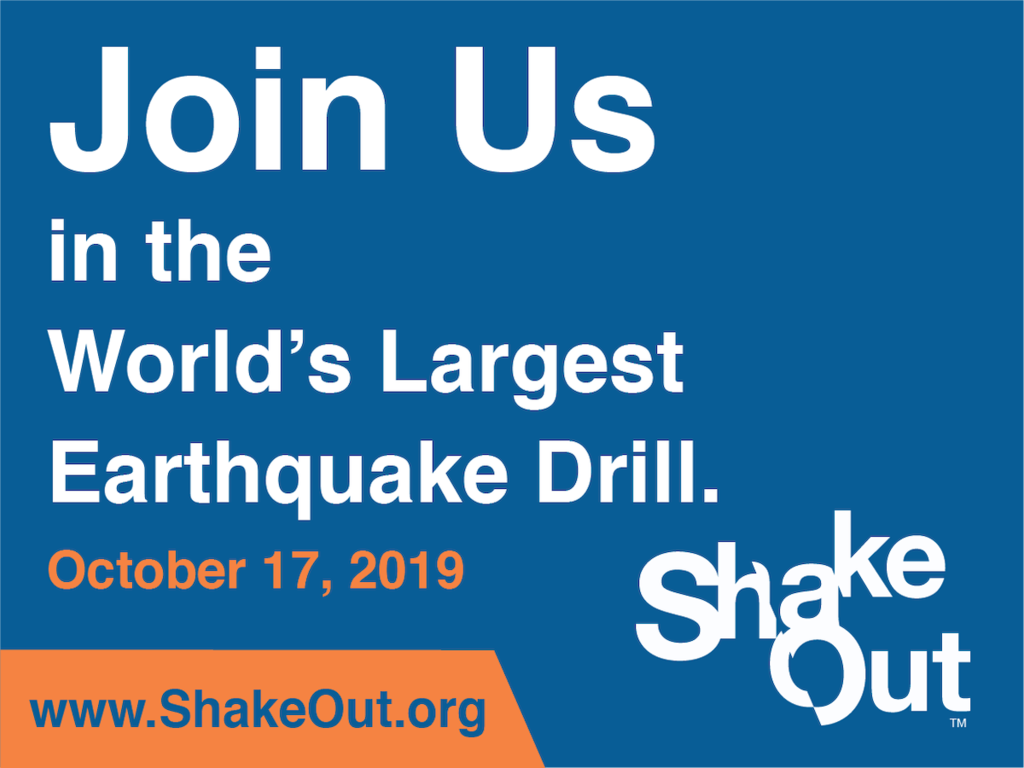 Shake out earthquake drill 10/17/19