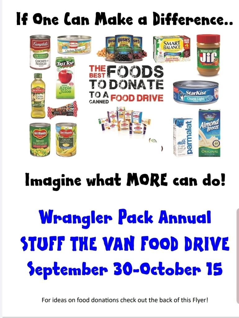Wrangler Pack Annual Stuff the van food drive