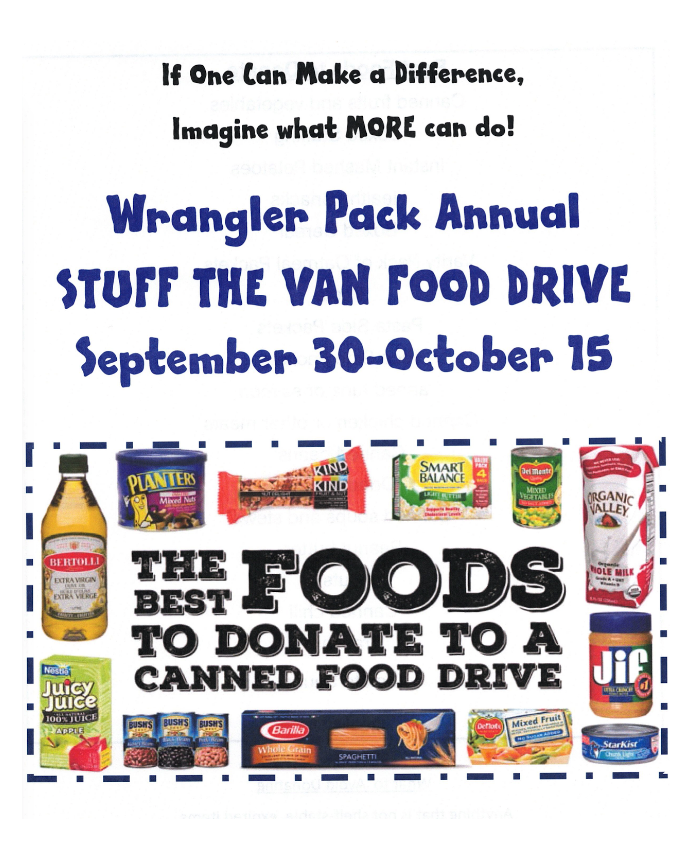 Stuff the van food drive