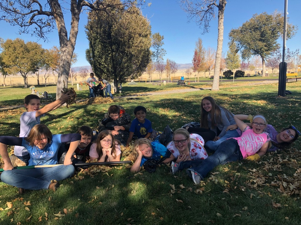 6th grade community service cleanup cemetery leaves