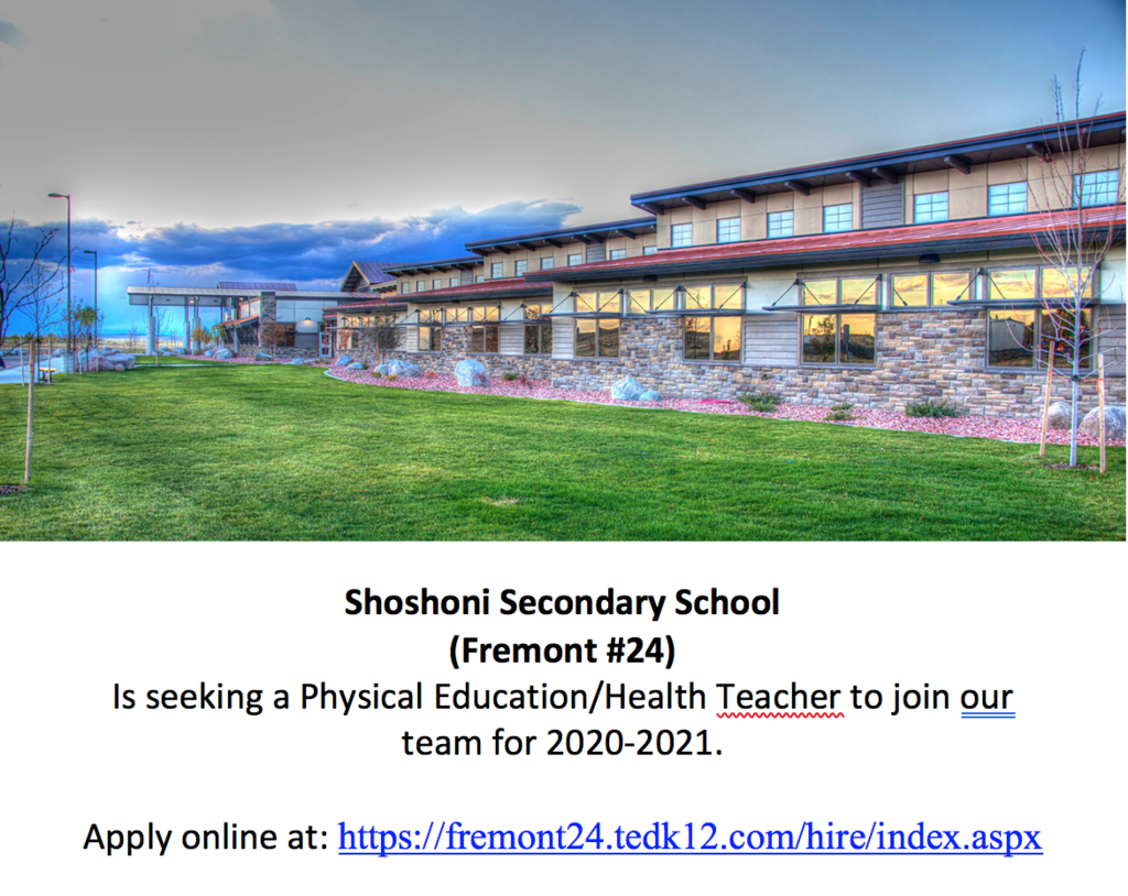 Position Opening - PE/Health Teacher