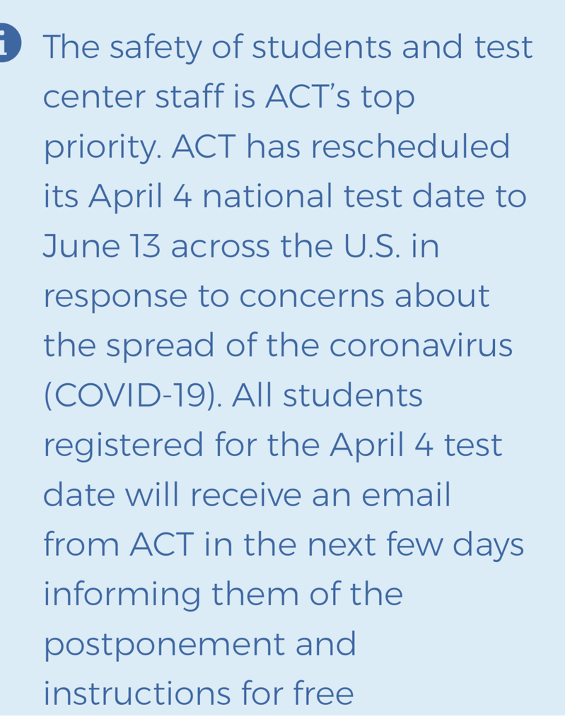 National ACT Test