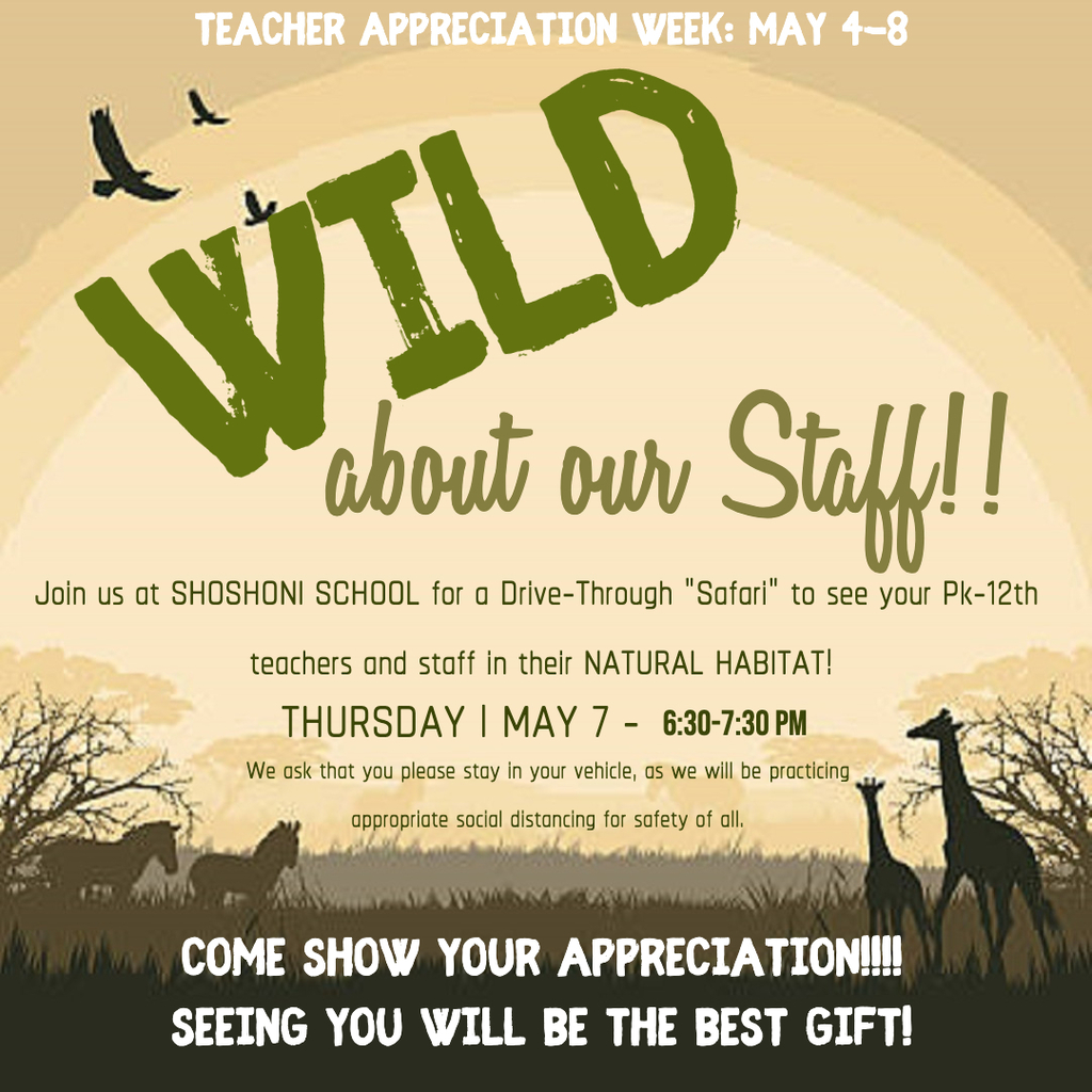 Wild about Staff Safari Drive Thru 5/7/20 6:30