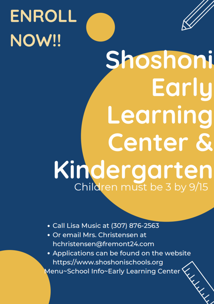 Pre K/Kinder registration. See post for details.