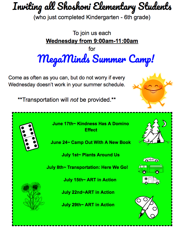 MegaMinds Summer Camp Information