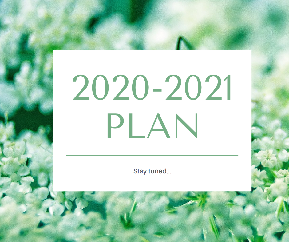 2020-2021 Plan Stay tuned...