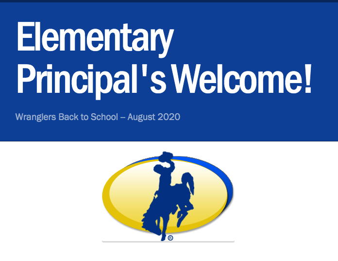 Elementary Principal's Welcome Back to School August 2020