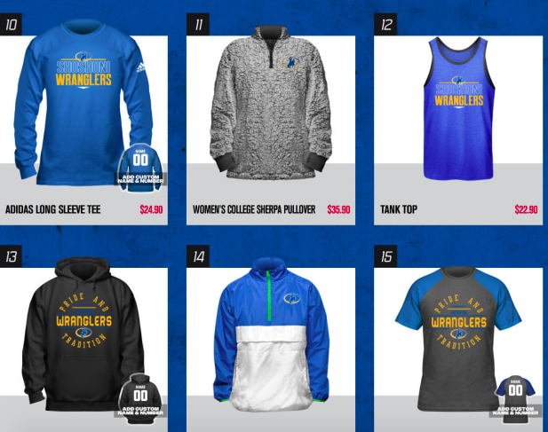 Some examples of apparel available through our FanCloth sale!