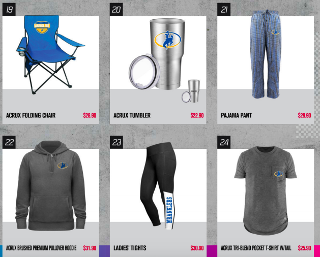 Examples of apparel and other items available through StuCo's FanCloth sale!